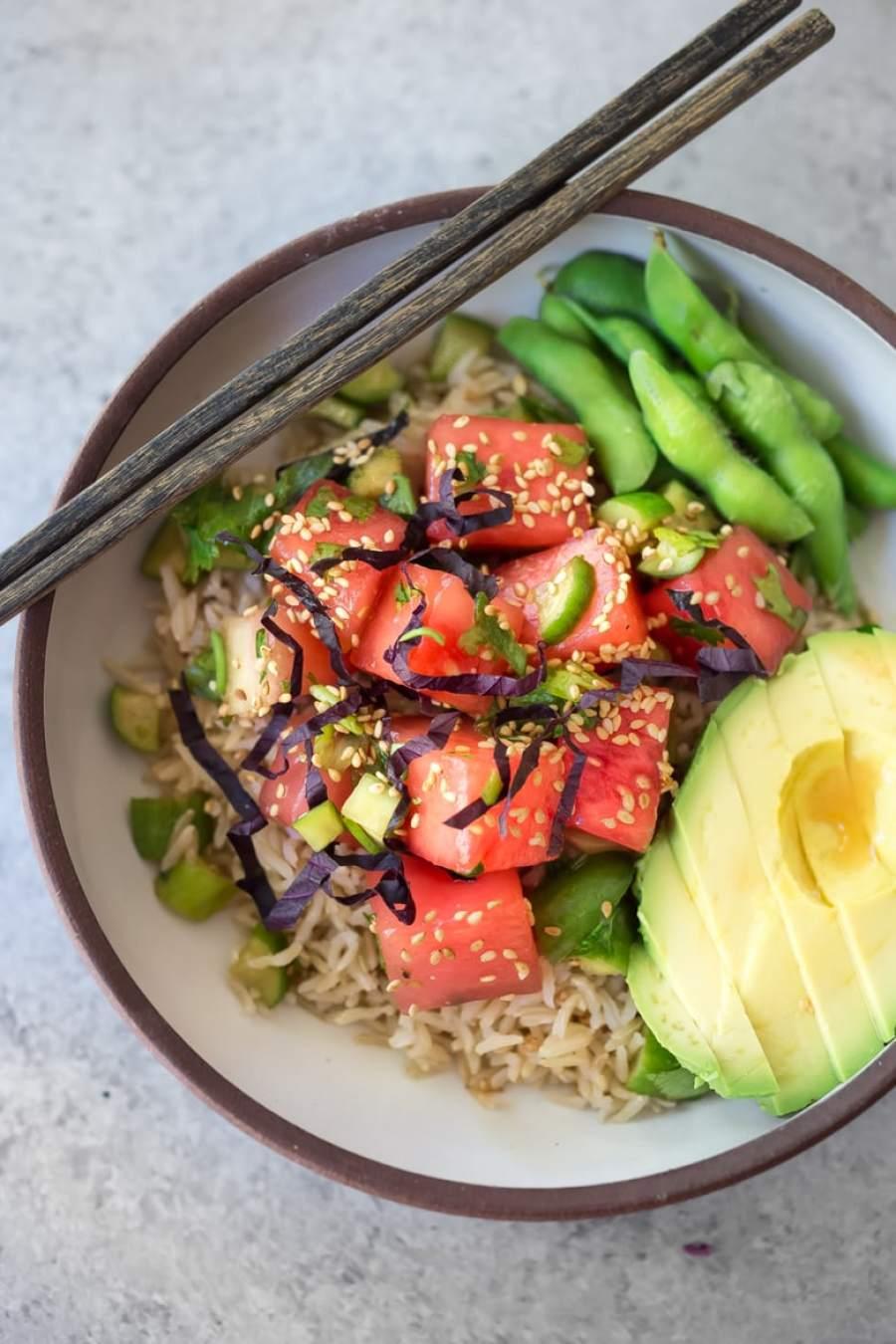 Watermelon Shiso Salad