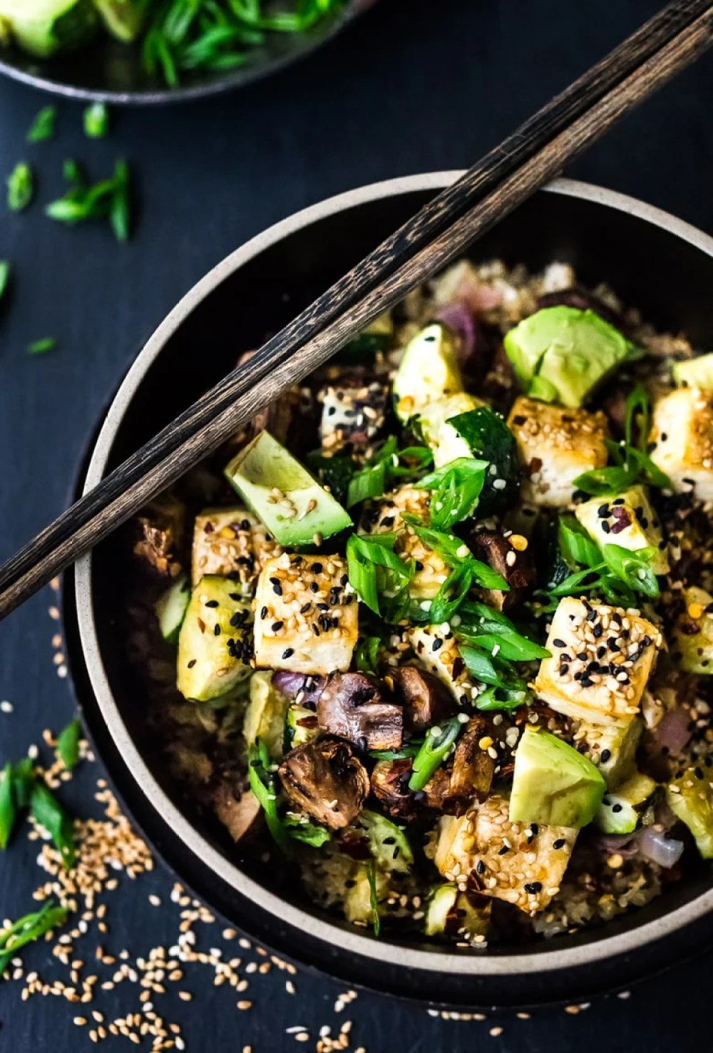 Roasted Cauliflower Rice Bowl with Miso and Veggies