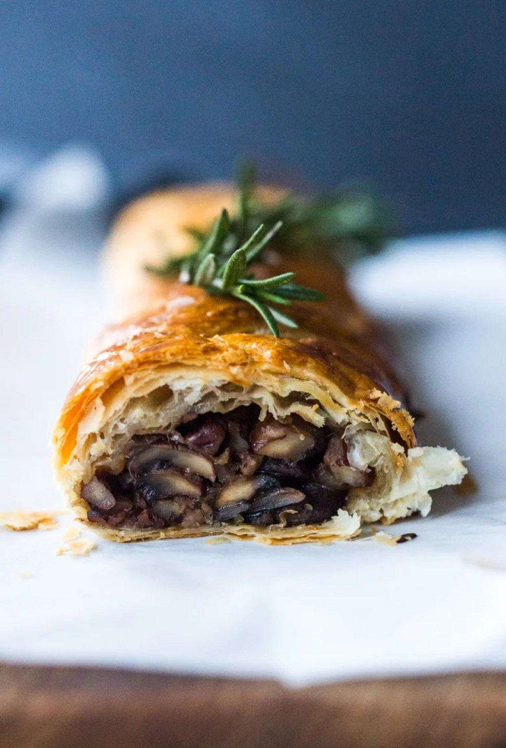 Vegan Mushroom Wellington with Rosemary and Pecans