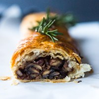 Mushroom Wellington with Rosemary and Pecans