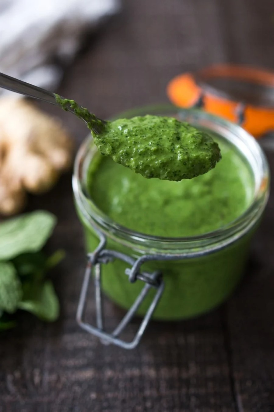 Cilantro Mint Chutney for Somosa or Frankie