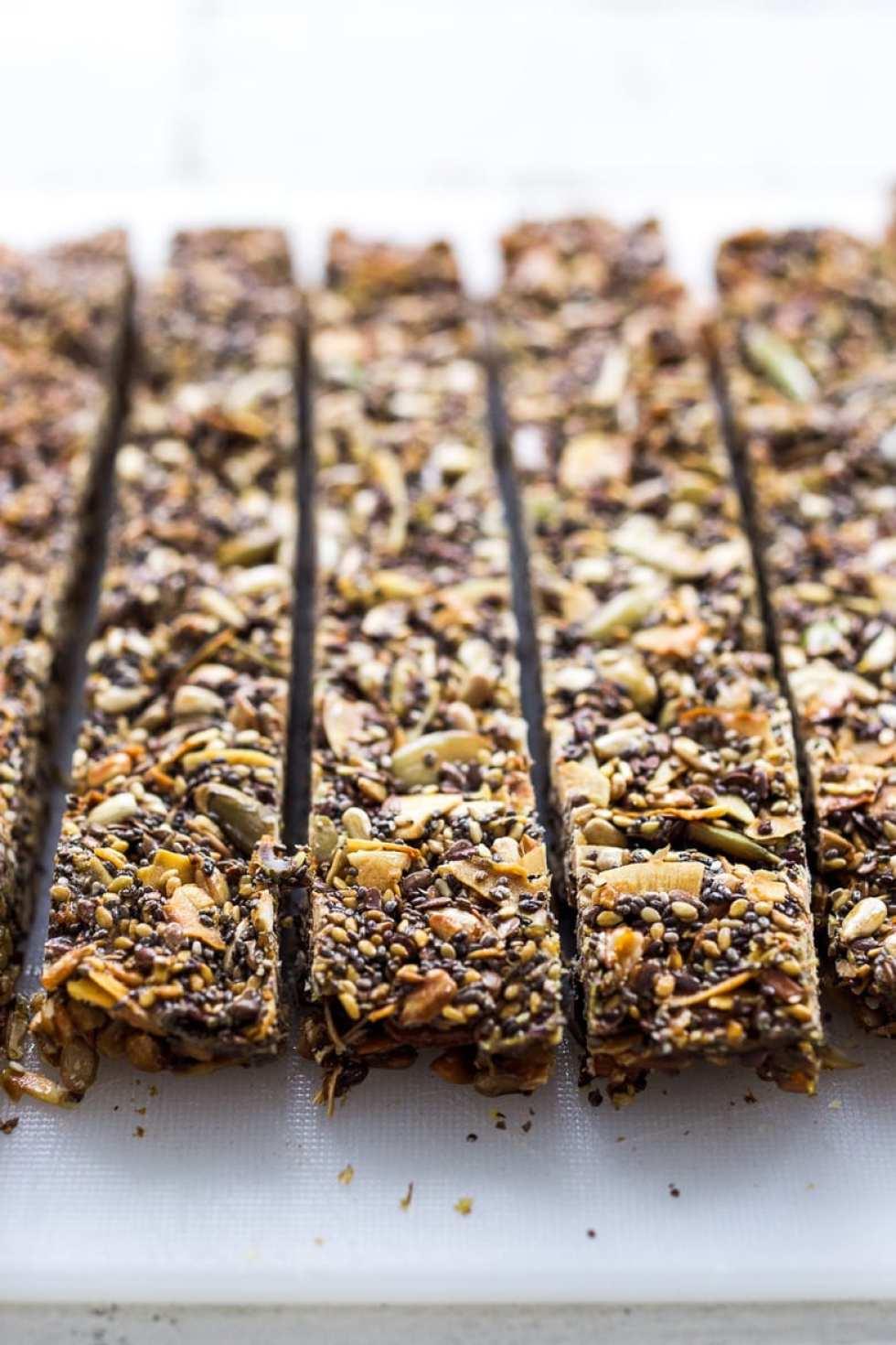 Seed Bars - sugar free and grain free!