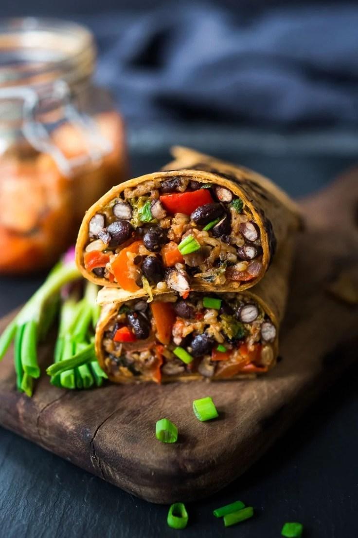 Kimchi Burrito- a vegetarian Korean inspired Burrito