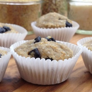 Raw Mini Blueberry Muffins