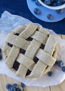No-Bake Blueberry Pie