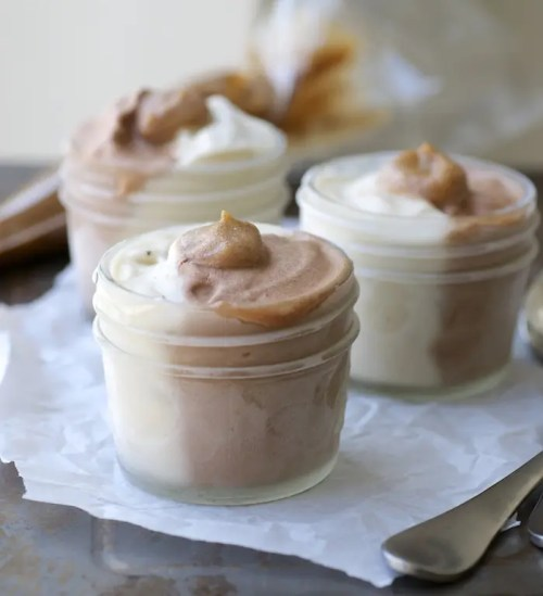 Chocolate Vanilla Caramel Core Ice Cream Cups