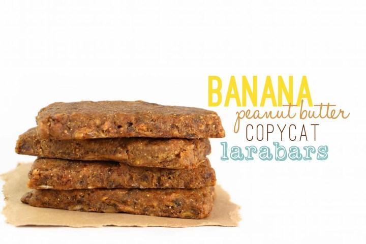 Banana Peanut Butter Copycat Larabars - FeastingonFruit.com