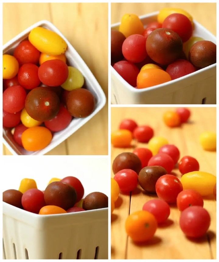 Cherry Tomato Bites - FeastingonFruit.com