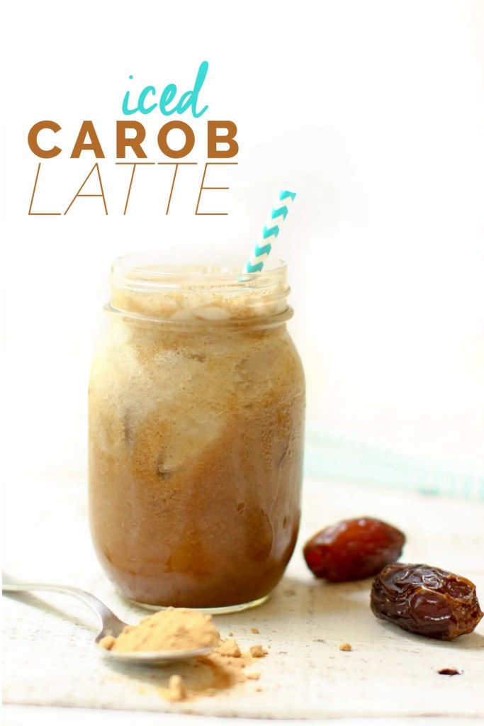 Iced Carob Latte - FeastingonFruit.com