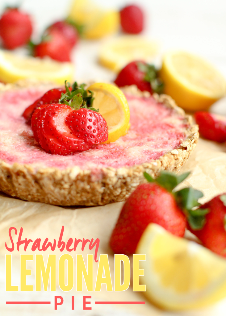Strawberry Lemonade Pie - FeastingonFruit.com