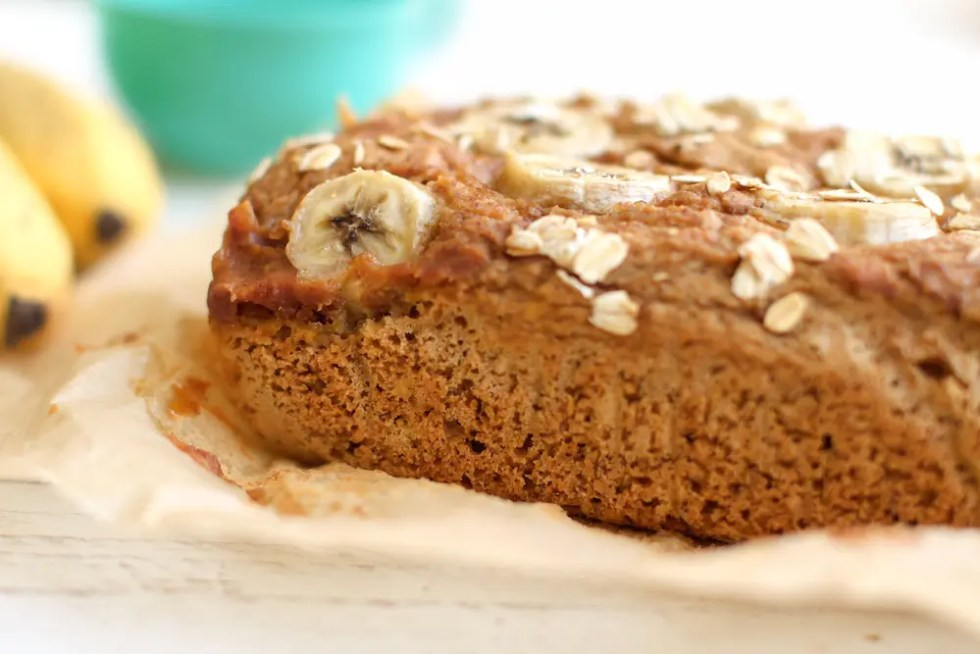 Sweet-Topped Oat Flour Banana Bread | Vegan, Gluten-Free, Oil-Free