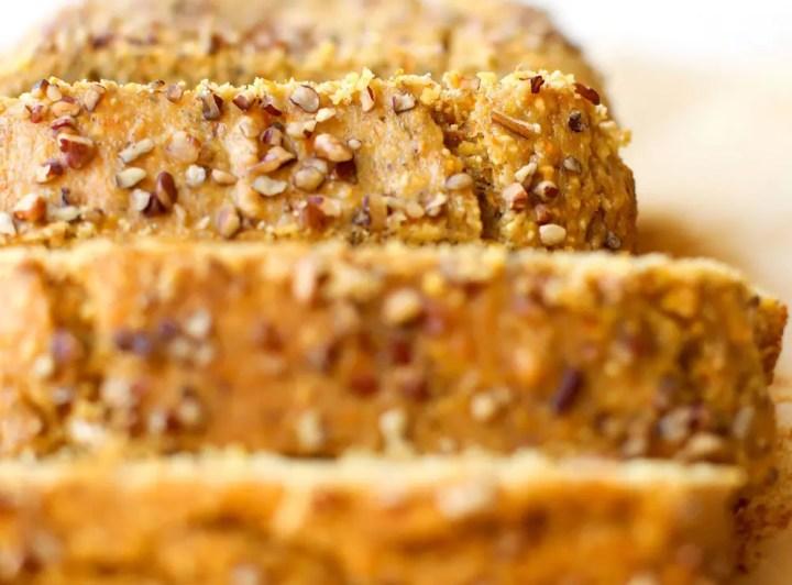 Maple Cornmeal Banana Bread - FeastingonFruit.com