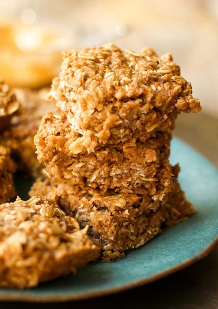 Peanut Butter Oatmeal Bars | Vegan, Gluten-Free, Oil-Free
