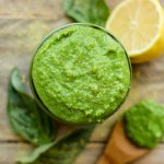Low-Fat Cheesy Vegan Pesto - FeastingonFruit.com