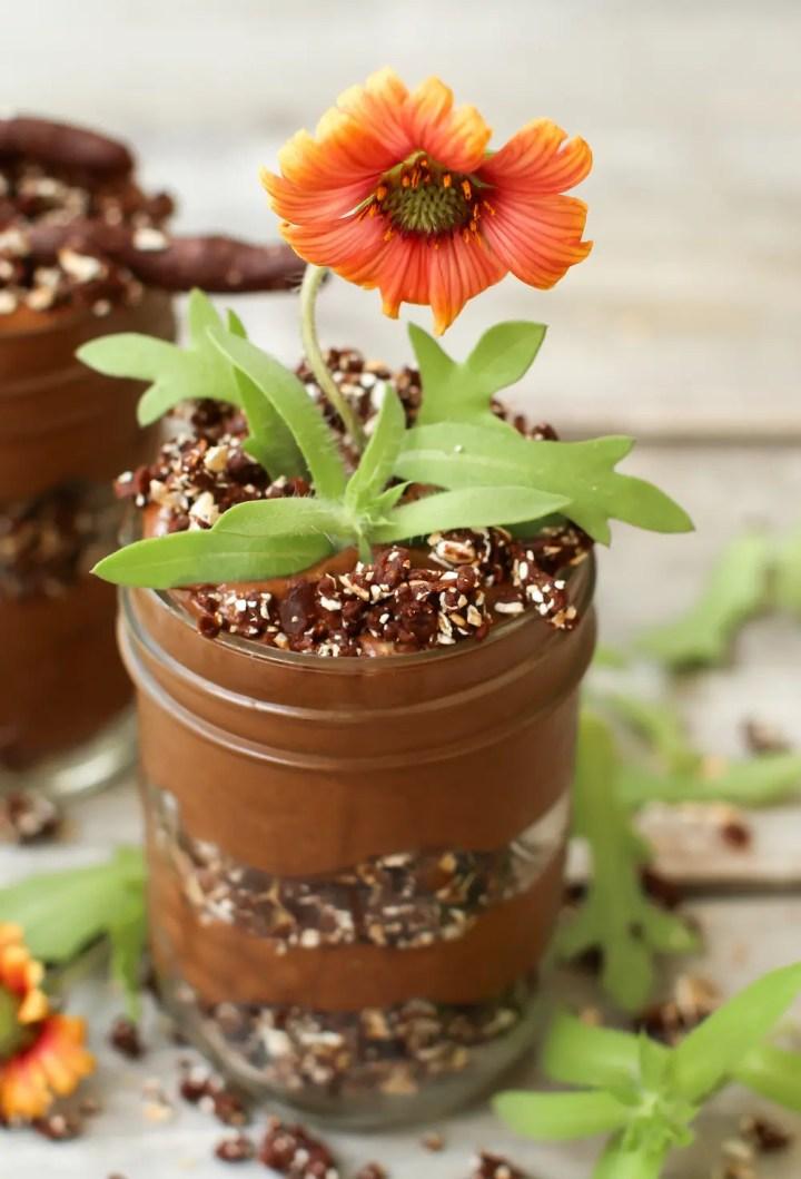 Chia Pudding Dirt Cups (vegan + fruit-sweetened)