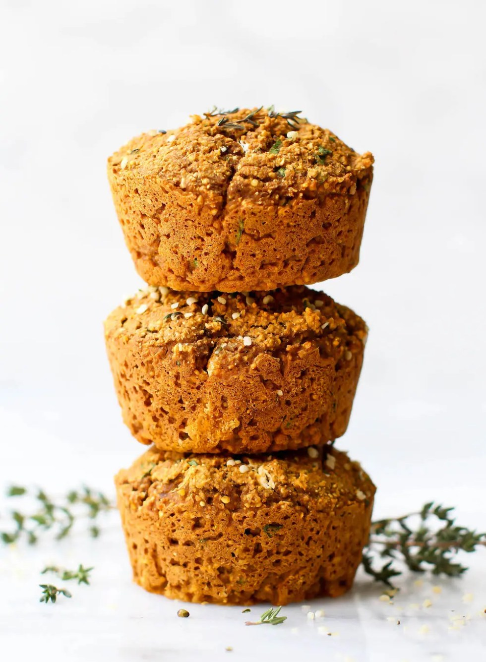 Sweet Potato & Herb Savory Muffins | Vegan, Gluten-Free, Oil-Free