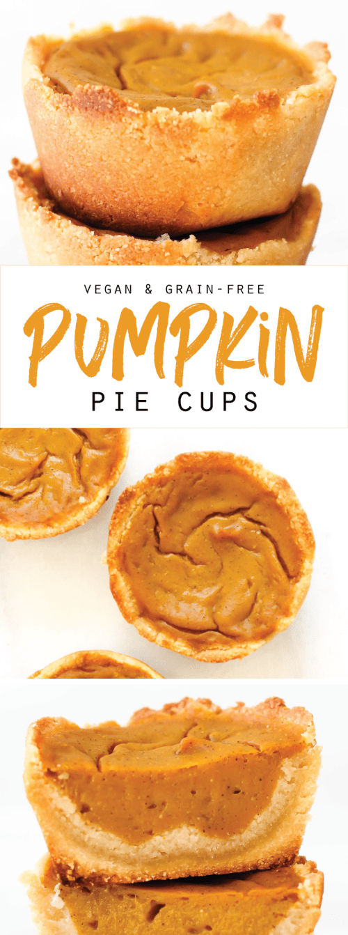 Vegan & Grain-Free Pumpkin Pie Cups