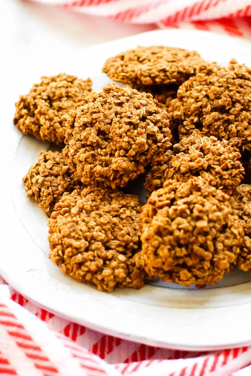 Chunky Oatmeal Vegan Gingersnap Cookies {gluten-free & oil-free}