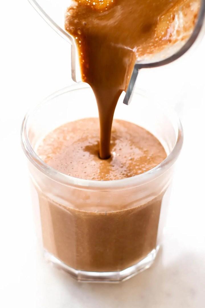 Creamy Cozy Vegan Hot Chocolate {date-sweetened}