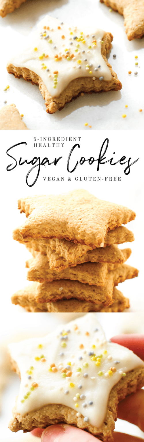 Easy Vegan Sugar Cookies {gluten-free, oil-free, refined sugar-free}