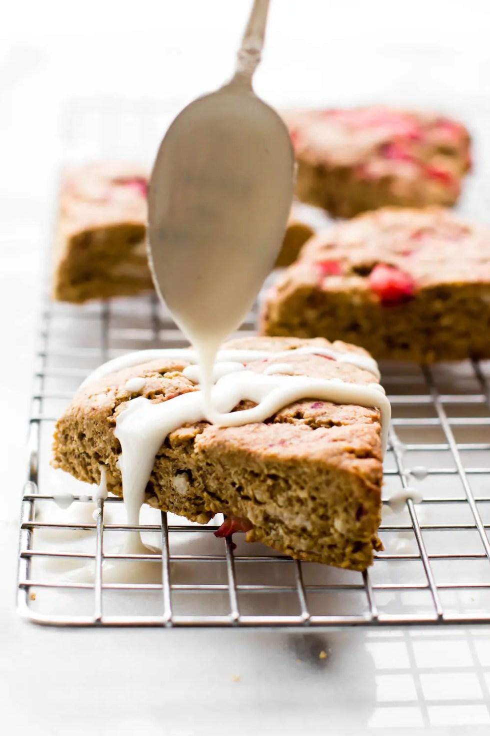Strawberry Oat Flour Scones {vegan, gluten-free, oil-free}