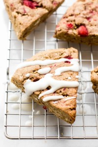 Strawberry Oat Flour Scones