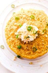 Savory Zucchini Cornmeal Pancakes