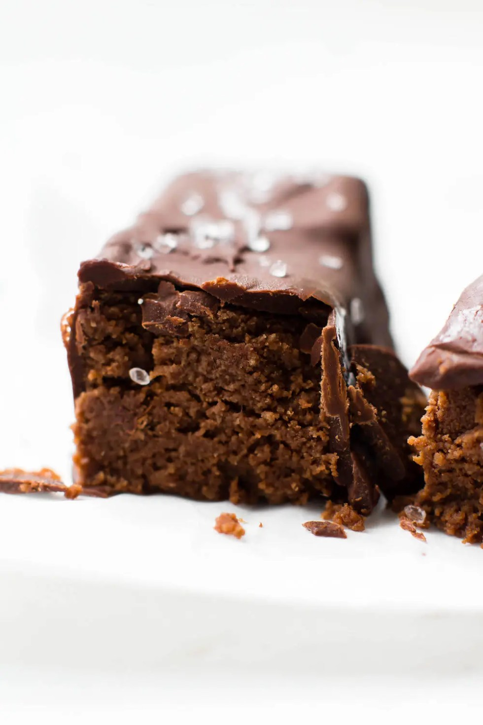 Salted Chocolate Truffle Bars {vegan}