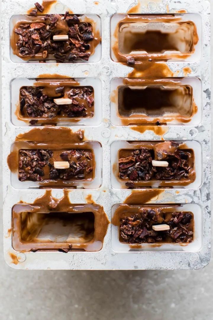 Chocolate Almond Sea Salt Ice Cream Pops