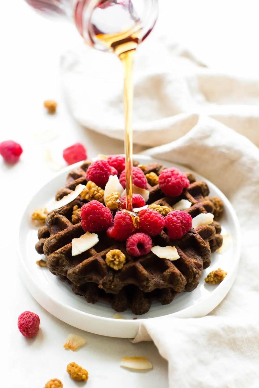 Banana Flour Waffles {vegan & grain-free}
