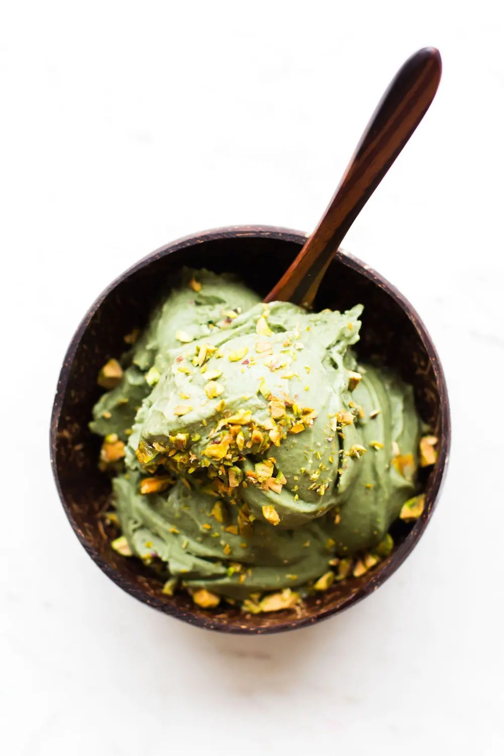 No-Churn Vegan Pistachio Ice Cream