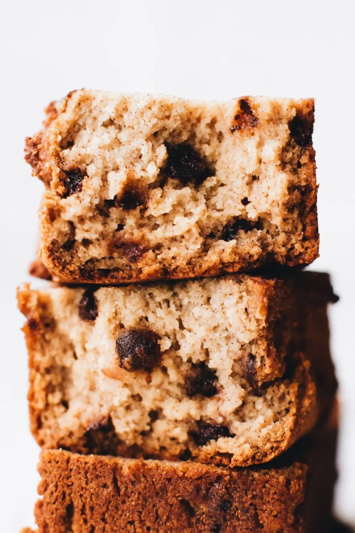 Paleo Vegan Chocolate Chip Banana Bread