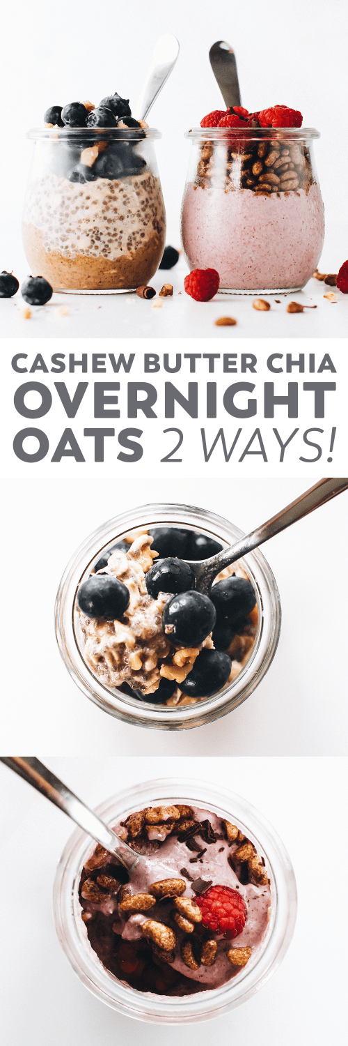 Chia Overnight Oats 2 Ways