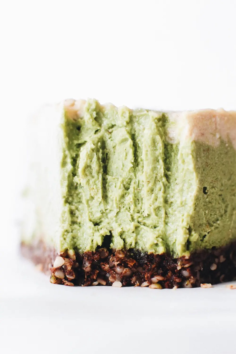 Vegan No-Bake Matcha Cheesecake