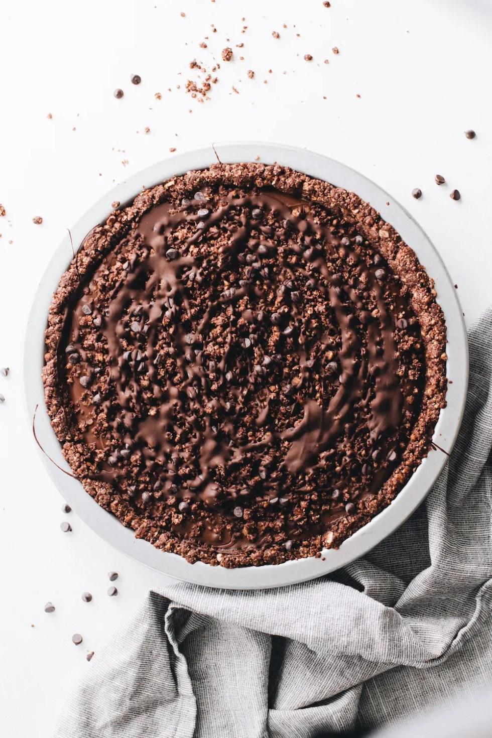 No-Bake Vegan Chocolate Cream Pie