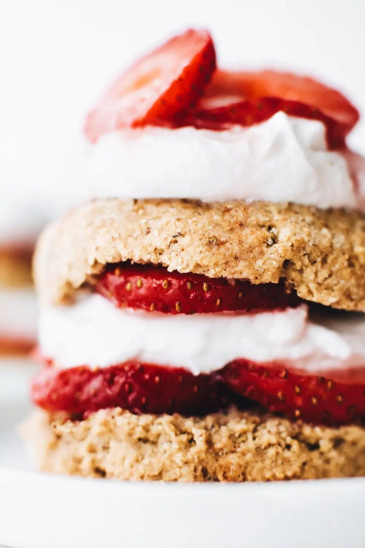 Vegan Strawberry Shortcake (Gluten-Free + Oil-Free)