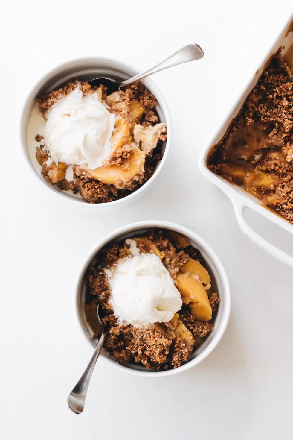 Peaches and Cream Crisp (Vegan + Paleo)