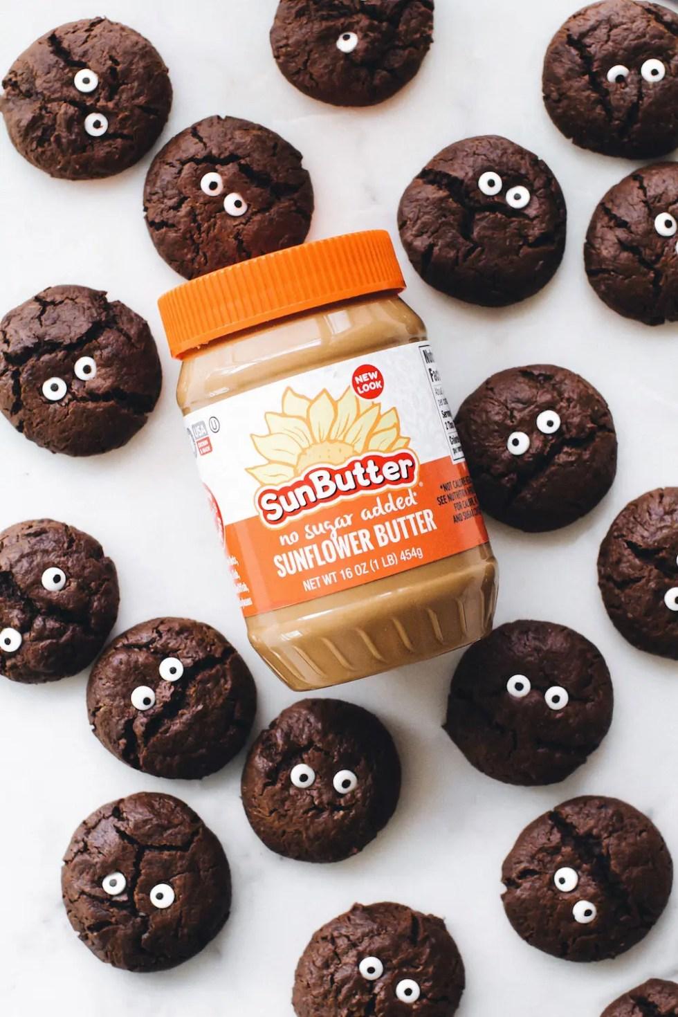 SunButter Chocolate Pumpkin Sandwich Cookies
