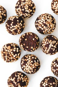 Medjool Date Buckwheat Brownie Crunch Balls