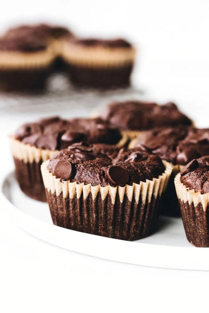 Double Chocolate Hazelnut Muffins