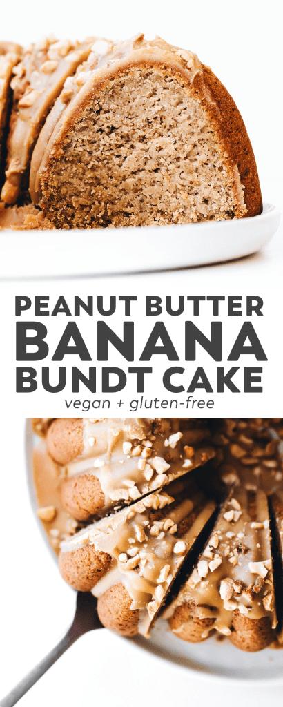 Peanut Butter Banana Bundt Cake (vegan + gluten-free)