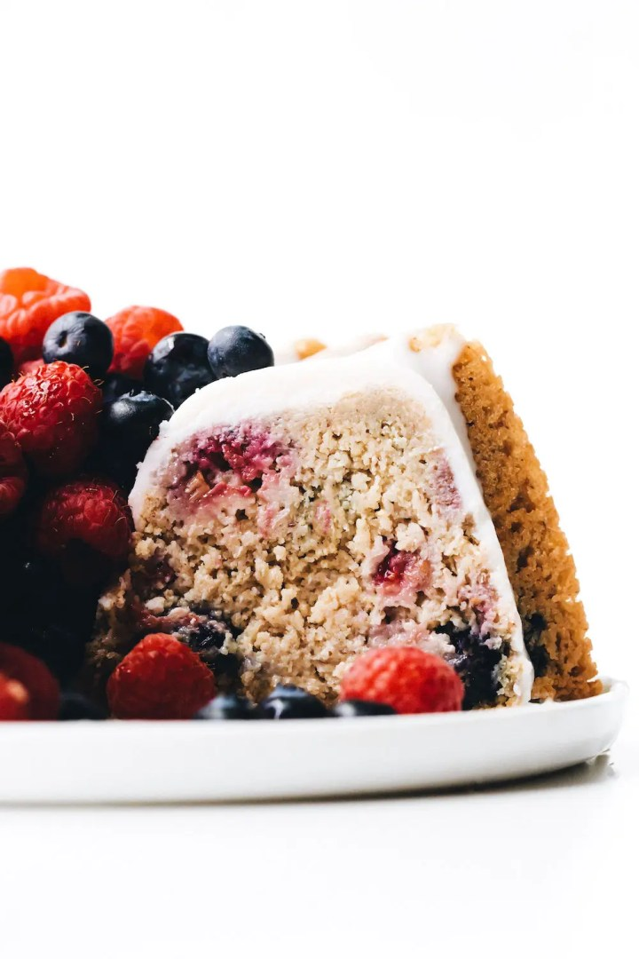Vegan Gluten-Free Berry Yogurt Cake