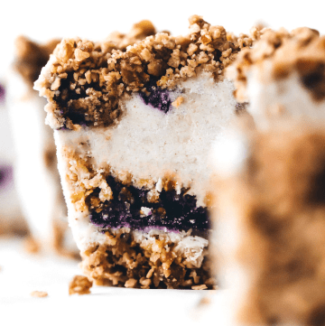 Blueberry Medjool Date Crunch Icebox Cake
