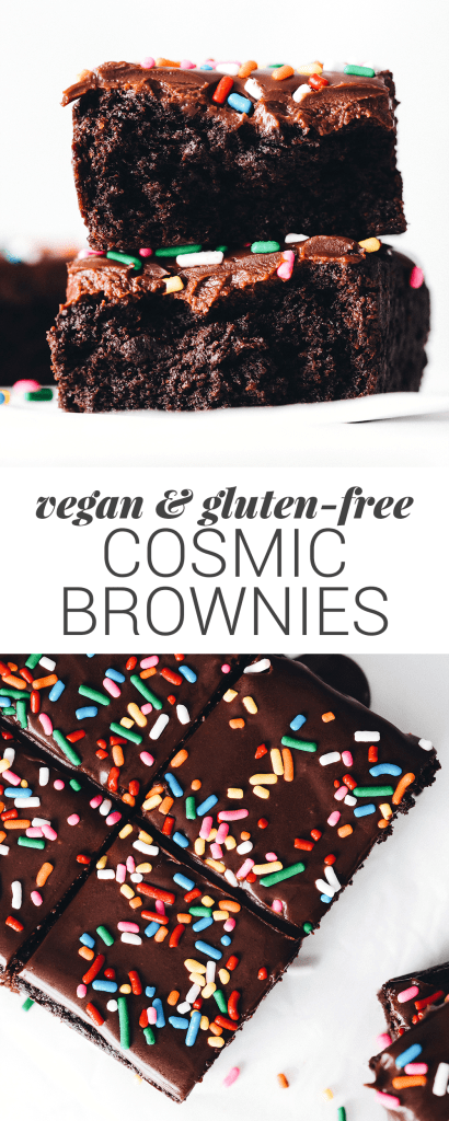 Vegan Gluten-Free Cosmic Brownies