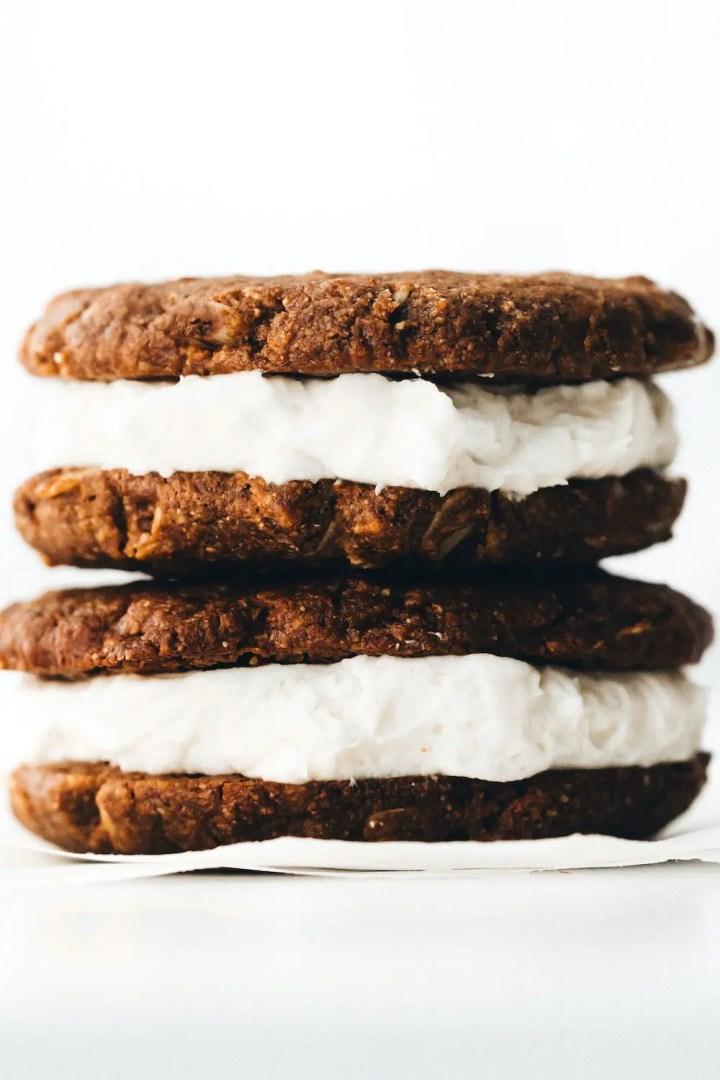 Vegan Oatmeal Cream Pies