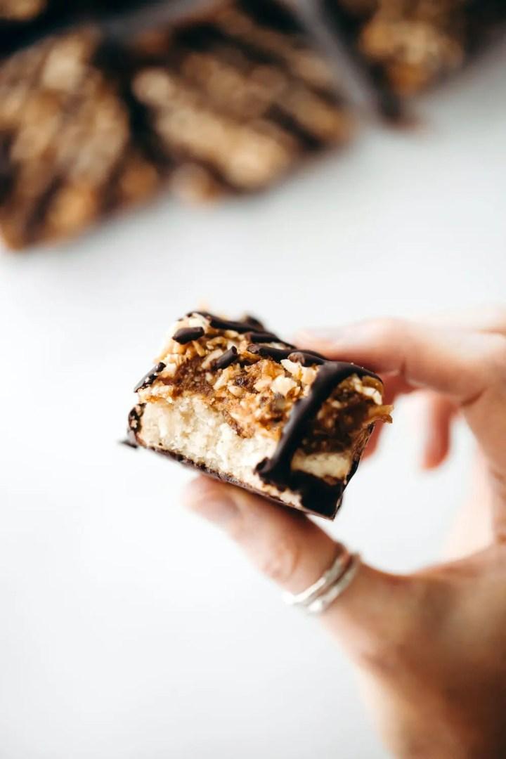 Vegan Paleo Samoa Bars (vegan + paleo)