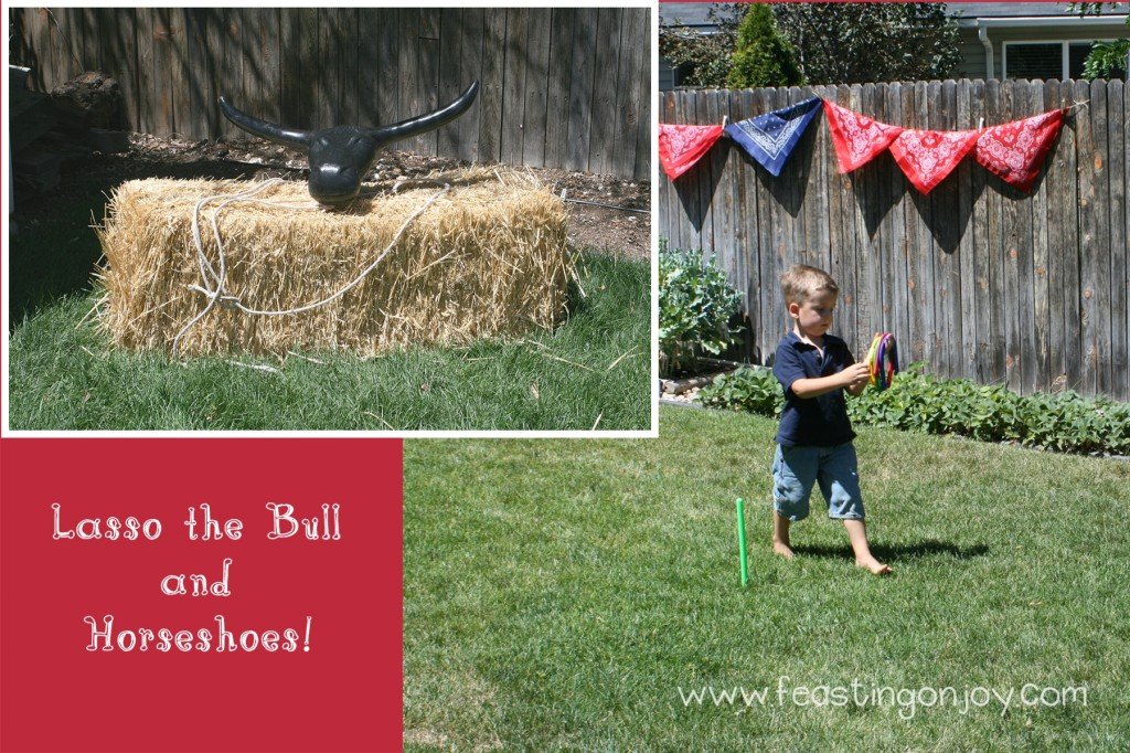 Cowboy Birthday Party Lasso the bull and horseshoes
