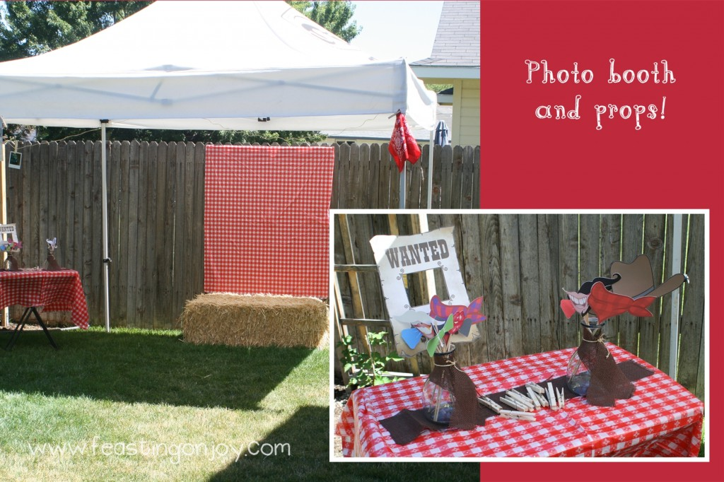 Cowboy Birthday Party photo booth and props