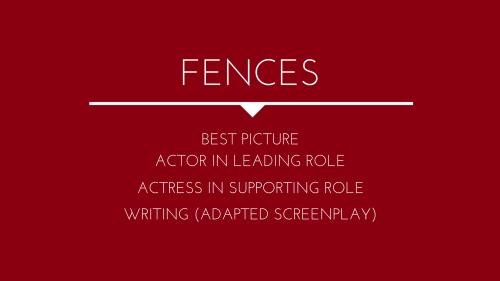 Fences Movie: Food Series