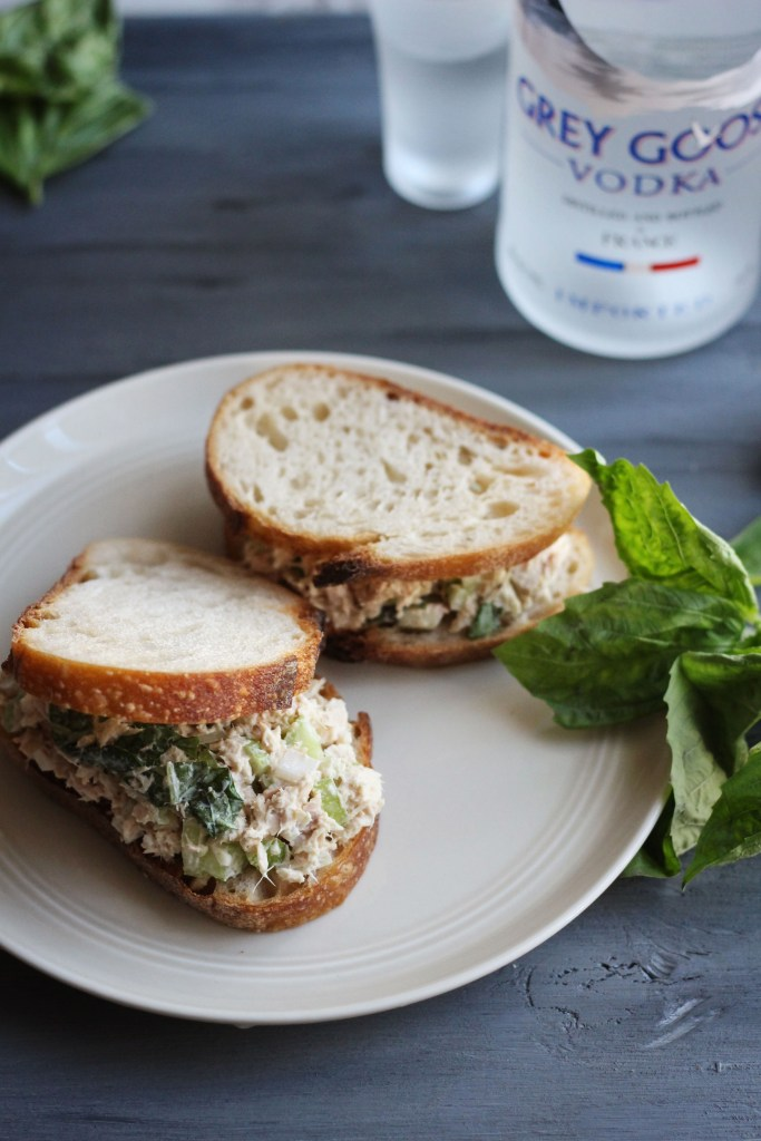 Sully: Tuna Basil Sandwich and Grey Goose recipe